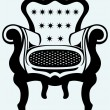 Classic armchair vintage — Stock Vector