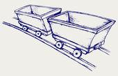 Mining cart — Stock Vector