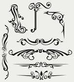 Elemento di disegno calligrafico — Vettoriale Stock