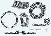Nautical rope knots — Stock Vector