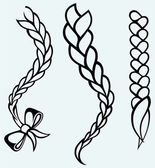 Hair braided — Vector de stock
