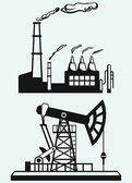 Concept of oil industry and factory — ストックベクタ
