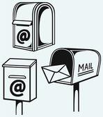 Aprire la cassetta postale con lettere — Vettoriale Stock
