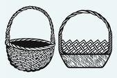 Empty wicker basket — Stock Vector