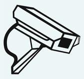 Cámara de vigilancia exterior — Vector de stock
