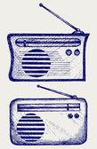 Old radio receiver — Stock Vector