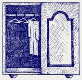 Armario de ropa — Vector de stock