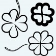 Set of hand drawn clovers. St. Patrick's day — Stock Vector #49533711