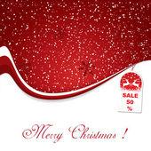 Fundo vermelho de decoração de natal — Vetor de Stock