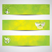 Health-care banners — Stock Vector