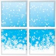 Winter through a window — Stock Vector #14335837