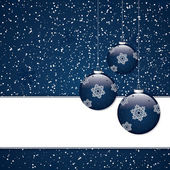 синий рождественский фон — Cтоковый вектор