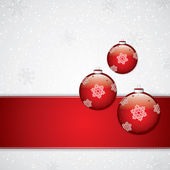 Christmas background with baubles — Stok Vektör