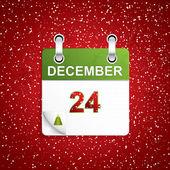 December holiday calendar — Stock Vector