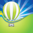 Hot Air Balloon — Imagen vectorial