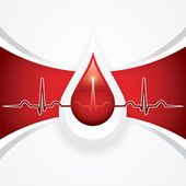 Blood donation — Vector de stock