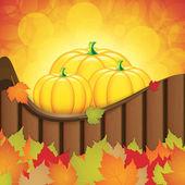 Feuilles d'automne fond — Vecteur