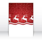 Christmas reindeer — Vettoriale Stock