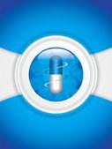 Blue medical background — Stock Vector
