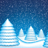 Winter scene — Stock Vector