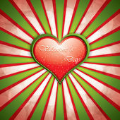 Valentine's Day background with heart frame — 图库矢量图片