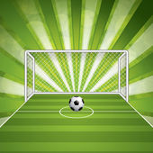 Soccer goal and ball — Stock Vector