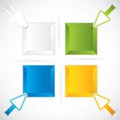 презентация template.business стрелки — Cтоковый вектор