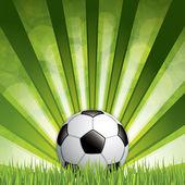 Футбольный мяч на траве — Cтоковый вектор