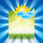 Spring frame — Stock Vector #44243321