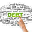 Debt Word Cloud — Stock Photo #12049605
