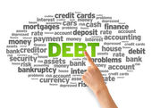 Debt Word Cloud — Stock Photo