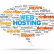 Web Hosting — Vettoriali Stock