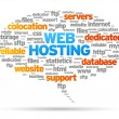 Web Hosting — Stockvectorbeeld
