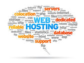 Web Hosting — Vector de stock