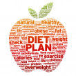 Diet Plan — Stockvectorbeeld