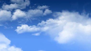 Latając w chmury — Wideo stockowe