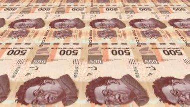 500 Peso Money Press — Stock Video