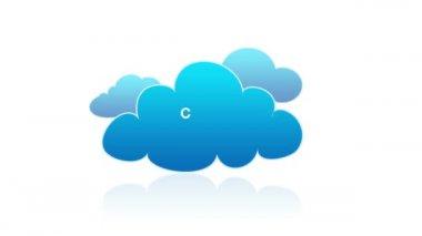 Computação em nuvem — Vídeo stock