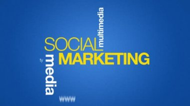 Social Marketing — Stock Video