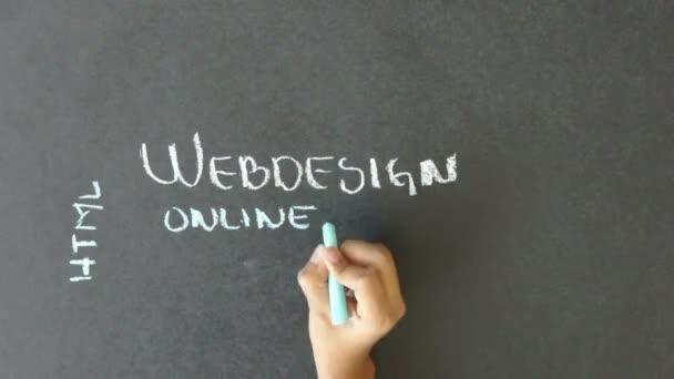 Diseño web — Vídeo de stock