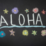Aloha Hawaii Chalk Drawing — Stock Photo