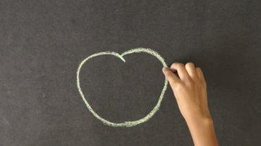 Jabłko zdrowego trybu życia — Wideo stockowe