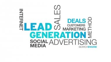 Lead Generation Word Cloud Animation — Stock Video