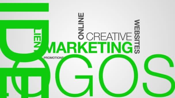 Marketing animation nuage de mot — Vidéo