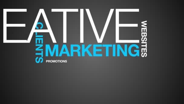Animación de nube palabra Marketing — Vídeo de stock
