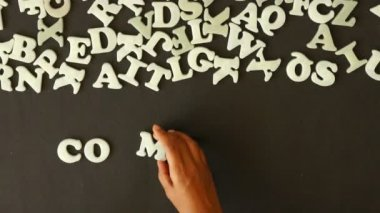 A person spelling Competence with plastic letters — Stock Video