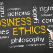 Stock Photo: Business Ethics Chalk Drawing