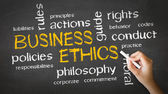 Business ethics krita ritning — Stockfoto