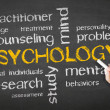 Stock Photo: Psychology Chalk Drawing