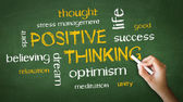 Positive Thinking Chalk Drawing — Stock Photo